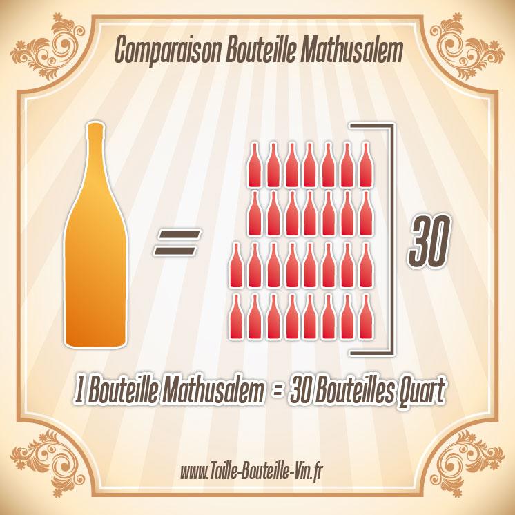 mathusalem comparaison d 39 une bouteille mathusalem et quart. Black Bedroom Furniture Sets. Home Design Ideas
